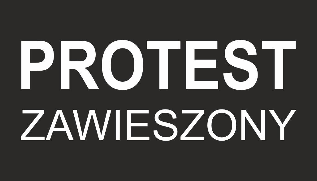 Protest zawieszony
